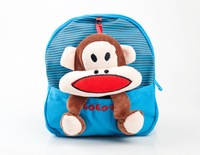 New Special Offer 2014 Plush Doll Children Cartoon Bag Monkey Satchel Jelly Candy Kids Backpack School Backpacks Free Shipping