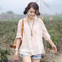 Free Shipping Cy741 2014 spring women's shirt female medium-long long-sleeve basic shirt female top