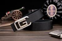 Korean men , Ms. belt buckle belt Smooth leather belt genuine factory direct letters customized A177