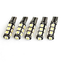 5 Pcs T10 W5W Canbus Wedge 5050 13-SMD LED Light Bulb Lamp White 12V