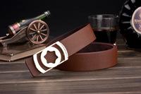 Korean men , Ms. belt buckle belt Smooth leather belt genuine factory direct letters customized A176