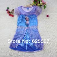Hot sell New 2014 summer Frozen dress Girl Frozen Elsa's and Anna's Princess Dresses Brand Girls Children Clothing Kids Wear