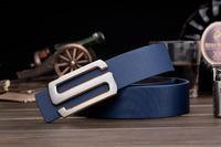 Korean men , Ms. belt buckle belt Smooth leather belt genuine factory direct letters customized A168