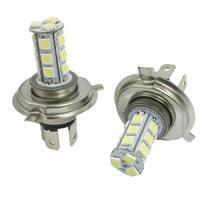 2 Pcs H4 5050 18 SMD LED Fog Light Headlight Lamp Bulb White