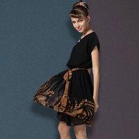 2014 plus size clothing one-piece dress fashion leopard print short skirt