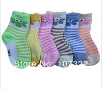 Spring, summer, new baby cartoon socks Baby absorbent cotton socks Children stripe style boys girls sunflower socks 6736001