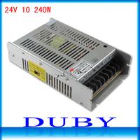 NEW MODEL 24V 10A 240W Switching Power Supply Driver For LED Strip light Display AC100V-240V Input,24V Output Free Shipping