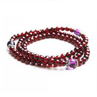 Free shipping Natural garnet bracelet garnet amethyst tibetan silver beads bracelet beauty