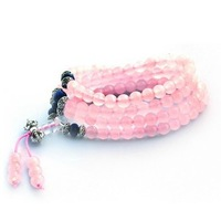 Free shipping Natural pink chalcedony beads bracelet multi-layer bracelets