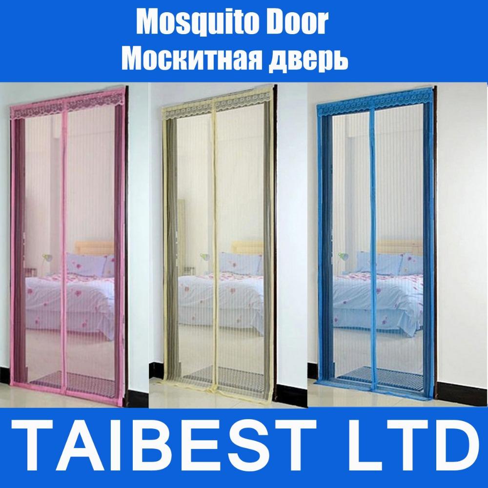 verano de mosquitos portiere cortina de pantalla de la puerta del imán magnético magia banda de malla de buena calidad no e