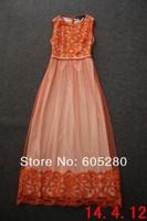 2014 new fashion model Free shipping best quality Net yarn water melt even the garment dress 1229