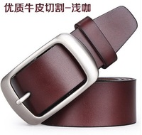 Men's genuine/cowhide leather fashion/casual pin buckle wide belts for men/women