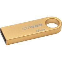 Free Shipping Original Kingston DTGE9 USB 2.0 gold metal mini usb key flash drive pendrive 16gb 8gb thumb drive retail packing