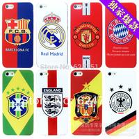 moda futebol 10pcs/lot equipa nacional da copa do mundo logotipo tampa traseira caso para for iphone5  5s 5g  free shipping