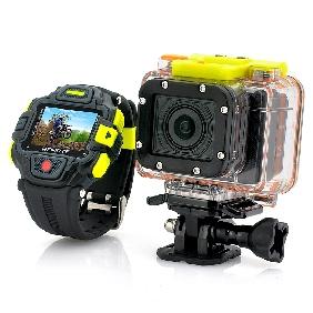 Full HD Action Camera Wi-Fi with Watch Remote Control, Panasonic Sensor, Ultra Wide Lens(Hong Kong)
