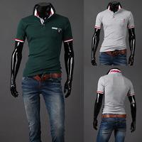 free shipping hot sell mens t shirts fashion 2014 plus size male short-sleeve casual shirt mens dress shirts clothing set YF-126