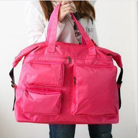 New Arrival Designer Gym Bags Solid Rose Red Nylon Beautician Large Women Gym Totes Holdall Duffle Gym Bag Sports Bags H-414