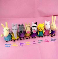 Brinquedos Peppa Pig Plush Toys 8pcs/lot Friends Toys & Hobbies Washable stuffed & plush animals Peppa Pig Family Kids Toys