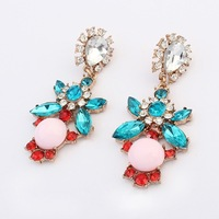 1518# 2014Europe and the United States hit color Street Fashion Earrings.