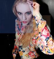 2014 fashion personality sexy spring print multicolour flower long-sleeve shirt chiffon shirt female
