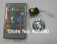 Free shipping 1W RGB LED Driver  with Remote controller 2 sets a lot