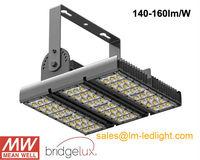 led tunnel lighting 90w Bridgelux 45mil LM-80 140-160lm/W refletor led warm white MeanWell driver garden led light free shipping