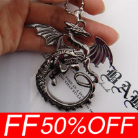 The hobbit Smaug wild fantasy dragon necklace of Lord of the