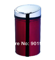 High grade public location 30L burgundy Infrared sensor electronic touchless sensor automatic trash can
