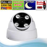 "Free shipping 1/3"" 1200TVL 4Array  Leds Dome camera SONY IMX138 sensor + FH 8520 DSP Indoor CCTV Camera + OSD Menu"