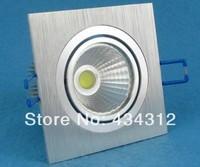 100X High Power 10W white shell Square COB LED downlight / led recessed ceiling down light lamp for living room flush mount