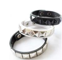 JD5035 Free shipping fashion punk bracelet all-match rivet lether bangle bracelet