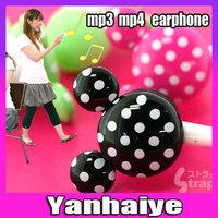 1pcs 3.5mm Newly cute Cartoon Mickey Earphone Headphone in-ear earphone 9 Colors For Free Shipping