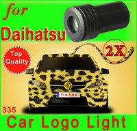 2 x  car door open LED logo light welcome shadow projector lighting for Daihatsu