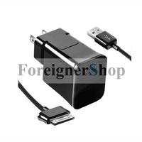 50 Sets For Samsung Galaxy Tab 2 Note Home Wall Travel USB Charger Adapter ETA-P10JBEG US Plug 2.0A + 30PIN Data Sync Cable Cord