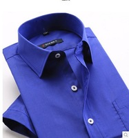 Free shipping spring and summer Male short-sleeve shirt business casual formal fashion easy care slim