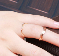 JD1009 Free shipping minimum order $10 (mix order)  simple elegant exquisite lovers ring rose gold ring for lady