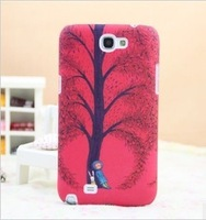 For samsung   n7100 phone case meters cartoons colored drawing scrub cartoon luminous protective case note 2 shell