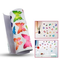Color Butterflies Children Wall Stickers 21 Individual Butterfly Wall Stickers