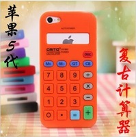 For apple   5 iphone5 g vintage calculator computer mobile phone case protection case silica gel sets protective case