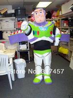 2014 NEW ARRIVE Buzz Lightyear Cartoon  Fancy Dress Mascot Costume Adult Character  Cosplay mascot costume free shipping