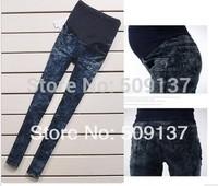 Spring, Autumn Maternity Clothes Pregnant Women/ Maternity Snowflakes Jeans WJ70
