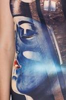 2014 new European and American women's Sky digital printing piece swimsuit bikini a generation of fat