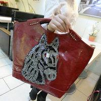 2015 women's handbag fashion vintage paillette horse shoulder handbag women leather handbags lady shopping bag