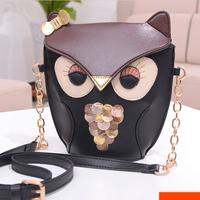 New arrival 2014 fashion women handbag vintage owl cross-body shoulder bag PU leather mobile phone messenger bag S2103