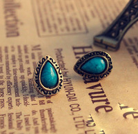JD2115  Free shipping minimum order $10 (mix order) hot-selling fashion vintage blue turquoise stud earring for lady