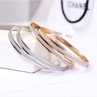 P 3182  Free shipping fashinable scrub bracelet accessories bangle for lady gift 2 pcs/set