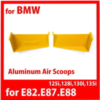 free shipping 2014 Limited Rushed for Bmw 1 Ser 6 Cylinders E82 E87 E88 125i 128i 130i 135i Aluminum Air intake Scoop Yellow