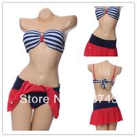 Best Feedback Hot Sale    Women's   Sexy Push Up   Swimwear Swimsuit  Bikini Sets  Beachwear skirt  FB172