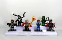 New Arrival Boxed 6PCS/Set  Winter Soldier/Venom/cyclops  Action Figure Cute Mini  5CM PVC Building Blocks Toys Free Shipping