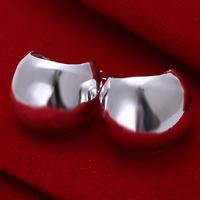 Wholesale Fashion Unique 925 Sterling Silver Jewelry Women's Hoop Earrings Circle  E052